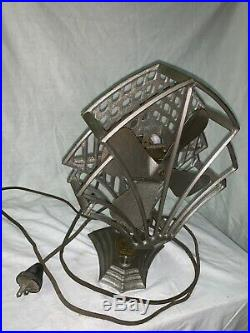 Killer Art Deco Antique R&m(robbins And Myers) Desk Fan
