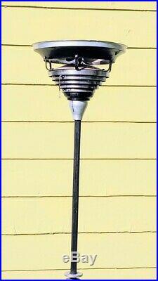 Kisco Vintage Art Deco Rare Antique Chrome Metal Pole Working Fan, Circulair