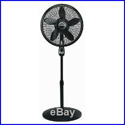 Lasko 18 3-Speed Oscillating Cyclone Pedestal Fan, Model 1843, Black