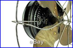 Limited Production EMERSON TRIPOD STEEL GUARD Early Antique Brass Fan