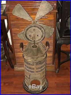 MUSEUM RARE 1900s JOST ANTIQUE STIRLING ENGINE KEROSENE HOT AIR FAN PRE ELECTRIC