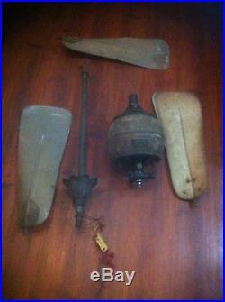 Museum Rare F & C Osler Antique DC Electric Cast Iron Ceiling Fan F/m Chandelier