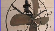 Marelli brass antique ceiling roof fan vintage made in Italy