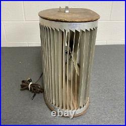 Mathes Cooler Box Fan-4 Metal Blades-Wood Cabinet-Antique VTG