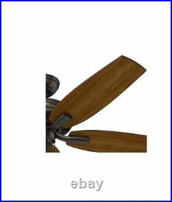 NEW 52 In Vintage Antique Electric Indoor Bronze Speed Ceiling Fan 5 Blades