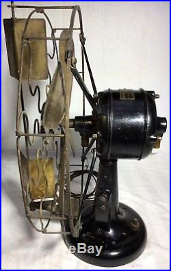 NICE antique WESTINGHOUSE BRASS-BLADE/CAGE old Vane-Oscillator ELECTRIC FAN