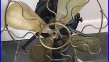 Old Electric Fan Marelli Mod Bisa art deco 20s Ventilator Ventilatore Industrial