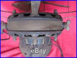 Old GE General Electric Brass Fan Old Pancake Motor 12 Antique Vintage Original