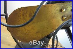 Old Vintage Antique 12 WESTINGHOUSE ELECTRIC 4 Brass Blade Electric Fan WORKS