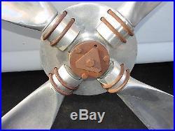 Old or Antique Vintage 4 Blade Airplane Propeller Machine Age Mid Century