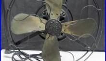 Original Antique GE General Electric Oscillating Brass Blade Fan WORKS