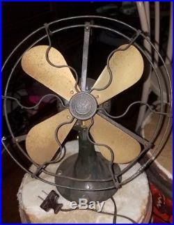 Original Antique GE Whiz Fan Brass Blade 1920s General Electric Telescoping Vtg
