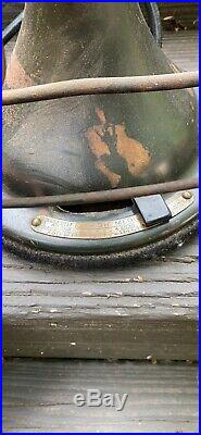 Original GE Antique 17 Electric BRASS Oscillating Fan Model CAT 75425