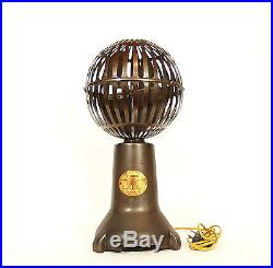 Outstanding 1925 S. A. X. Vertical Banker's Fan 20 High withSpherical Steel Cage