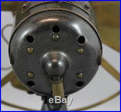 RARE 9inch Antique WESTERN ELECTRIC Brass Electric Fan Alternating Current Motor