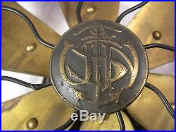 RARE ANTIQUE MILITARY US NAVY ROBBINS & MYERS DIRECT CURRENT FAN CIRCA 1918-20