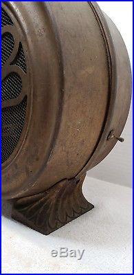 RARE Antique Vintage Circular Heater Fan Works Fillegre Guards Leaf Petal Feet