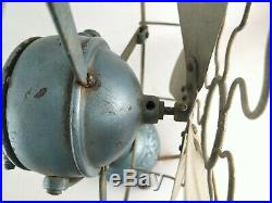 RARE Original 10 Ball Motor & Ornate Foot MARELLI Antique Early Electric Fan