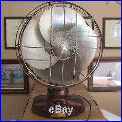 RARE, WORKS WELL! 1934-1936 Emerson silver swan antique vintage electric fan