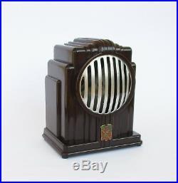 Rare Antique Art Deco French Edla Junior Bakelite Small Electric Table Fan