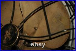Rare Antique Fan Vintage Emerson Brass Fan 6250 Art Deco Mic Stand DECO 1940s