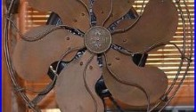 Rare Early Emerson Type 11666 Brass Blade Electric Fan Ornate Base Antique Runs