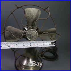 Rare FITZGERALD STAR Antique Fan 8 Electric Vintage 1900's Nickle Plated