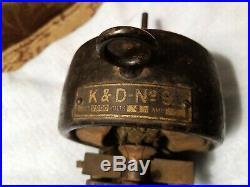 Rare Vintage motor kendrick & davis k&d bipolar no. 9 fan motor