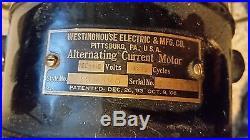 Rare Westinghouse Antique Electric Fan