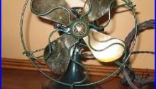 Refurbished 6 inch brass blade GE antique electric fan
