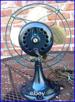 Restored Antique 9 inch Emerson Jr. Brass blade electric fan