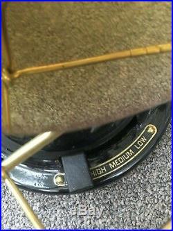 Restored Antique Original Oscillating 1915 Form R4 GE Brass Blade/Cage Fan
