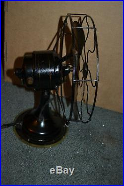 Small Antique Fan Vtg 4 blade Brass Robbins & Meyer