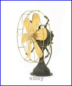 Table Desk Fan Oscillating Blade Electric Work 3 Speed Vintage Antique style 16