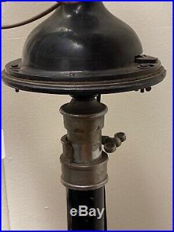 Unique Antique Signal Electric Cast Iron Funeral Parlor Pedestal Fan