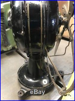 VERY RARE EARLY Antique Brass Electric DUTCH HOLLAND EMI Fan Tripod Base
