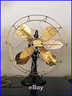 VINTAGE ANTIQUE ELECTRIC FAN R&M FEATHER Robbins & Myers