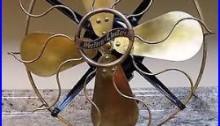 VINTAGE ANTIQUE WESTERN ELECTRIC BRASS BLADE FAN STYLE W-165236