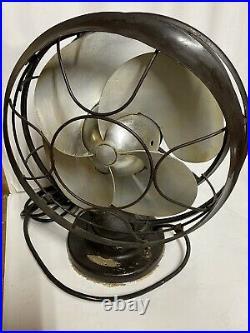 VTG 1937 Antique 10 Silver Swan Oscillating Fan Model 5250B Single Speed