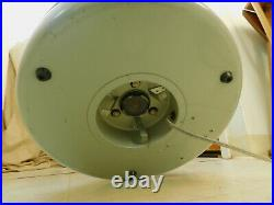 VTG HASSOCK OTTOMAN FLOOR FAN Mid Century Modern GE DUAL BLADES 3 SPEED