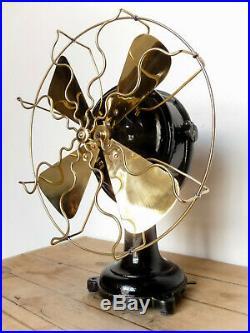 Ventilatore AEG old antique electric fan design industrial loft marelli