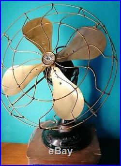 Verity Orbit 16 Antique Electric Fan Brass Blades 20s