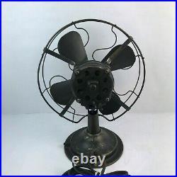 Victor Co. Cincinnati U. S. A. Vintage Fan Electric Antique 110 Volt 60 Cycles
