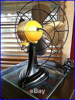 Vintage 1950's Westinghouse Electric Fan Art Deco, Sunset color, Refurbished