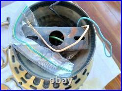 Vintage 1981 Casablanca Zephyr Ceiling Fan Antique Brass Slumber Quiet #1444