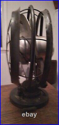 Vintage Antique 10 Silver Swan Oscillating Fan Model 5250B Single Speed