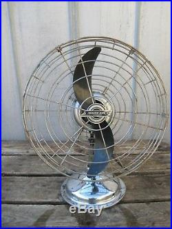 Vintage / Antique 18 Fresh'nd Aire Model 17 Fan With Airplane Propeller Blade