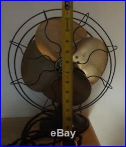 Vintage Antique 1934 Ge Fan Cage Fan General Electric Quiet Blade Fan