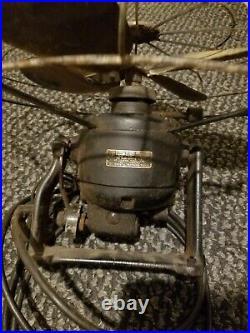 Vintage Antique Diehl Industrial Wall Mount Fan