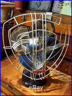 Vintage Antique Dominion Electric Fan 1935 Art Deco Reconditioned